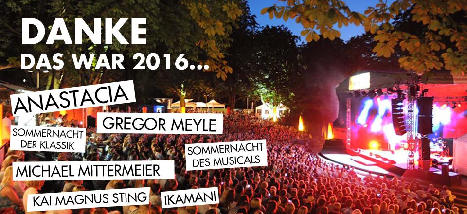 Fantastival 2016 Anastacia Gregor Meyle Ikamani Musical Dogma Chamber Orchestra Kai Magnus Sting Michael Mittermeier